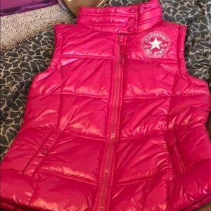 Girls hot pink converse vest